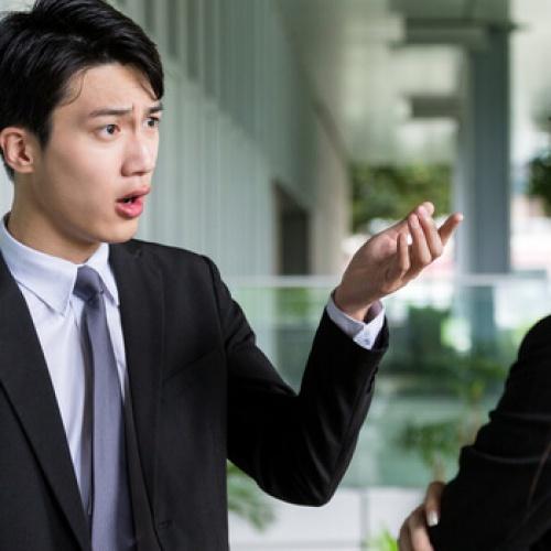 Business people having a dispute