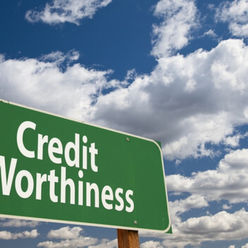 Credit Worthiness sign