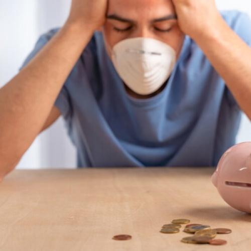 Depressed man with hardly any money