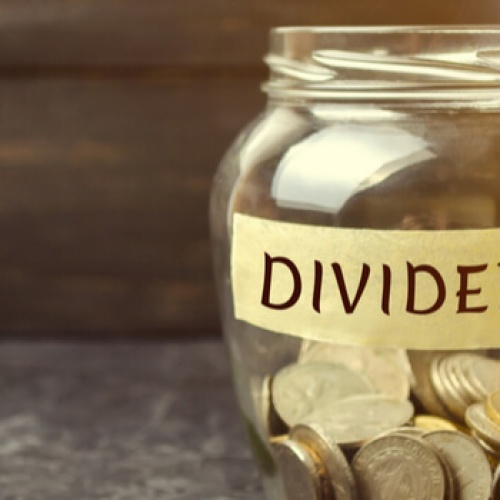 Dividend glass jar