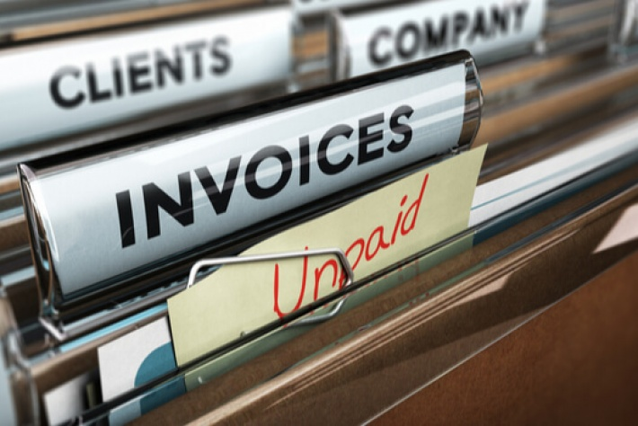 How can you recover debt for unpaid customer invoices?