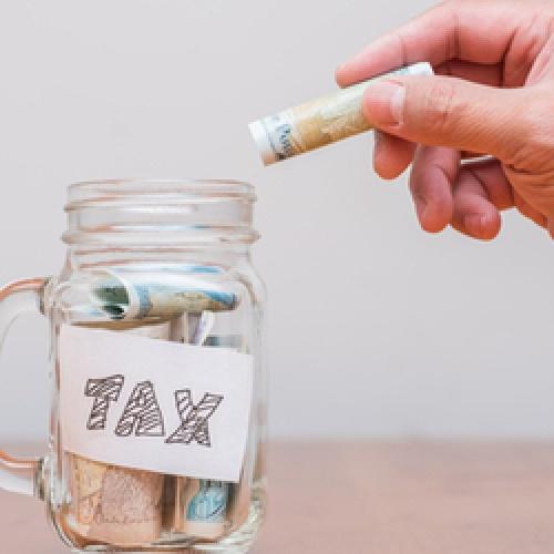 Putting money into a tax jar
