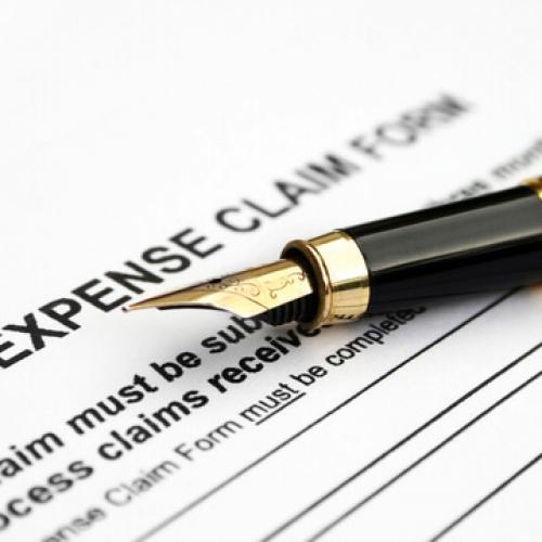 Expense claim form