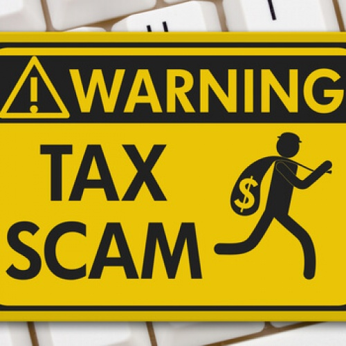 Tax scam sign
